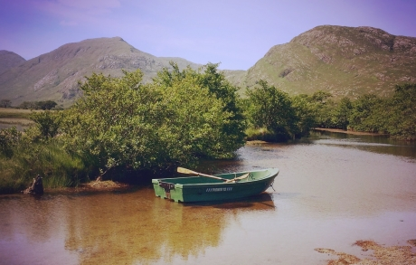 Boat with a view of Hills over Ardgour Estate