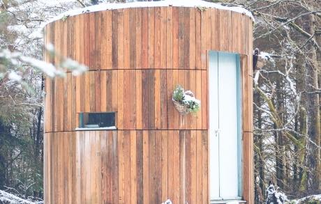 Wooden wildlife hide in the Highlands - on Ardgour Estate