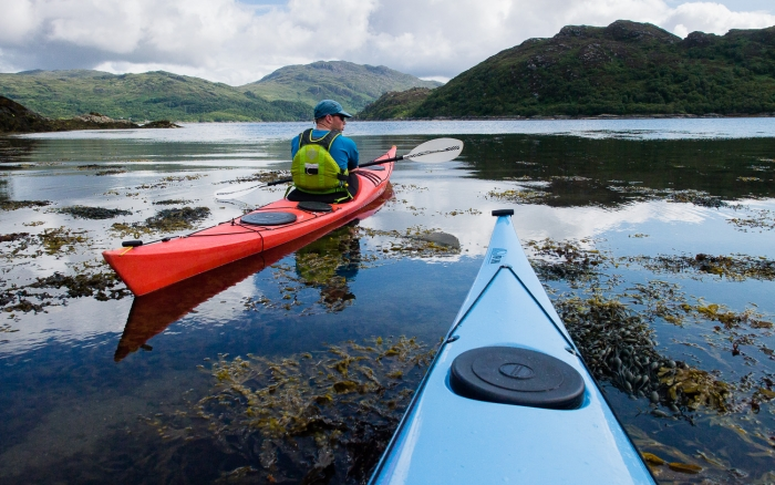 Two kayaks on Loch Linnhe by Ardgour Estate